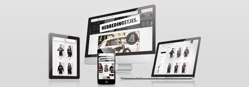 Webshop Hebbedingetjes.Amsterdam gemaakt door ZWF ontwerp
