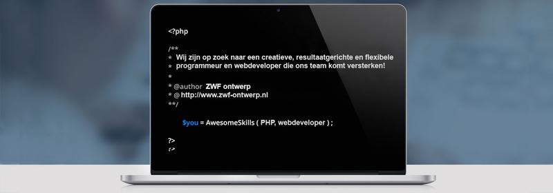 Wordt jij onze nieuwe PHP programeur en webdeveloper