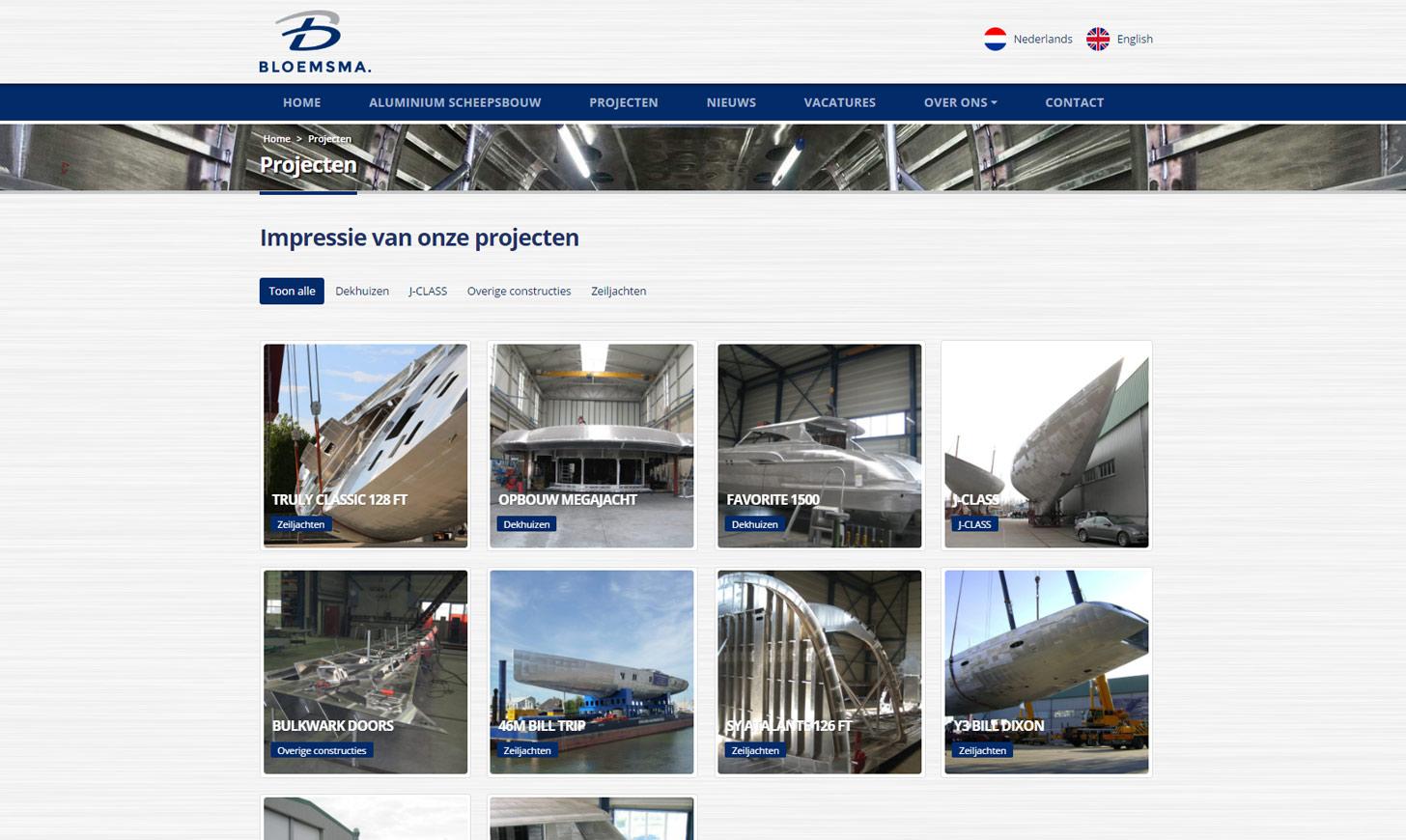 Bloemsma Aluminiumbouw projecten