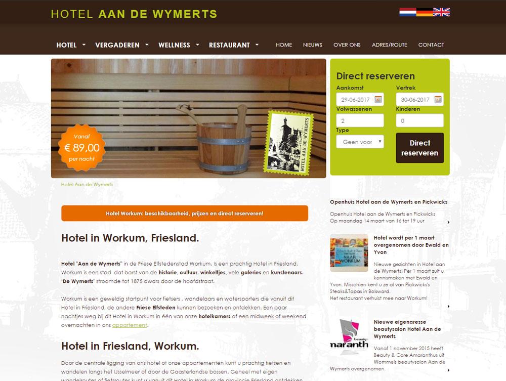 Oude website Hotel aan de Wymerts
