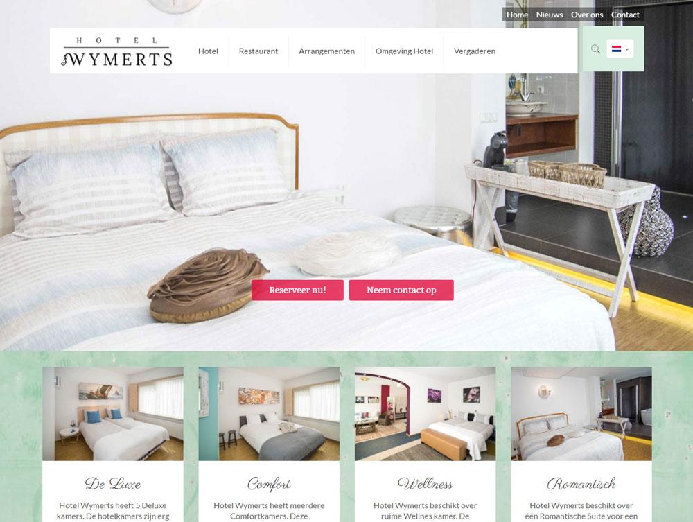Nieuwe website Hotel Wymerts
