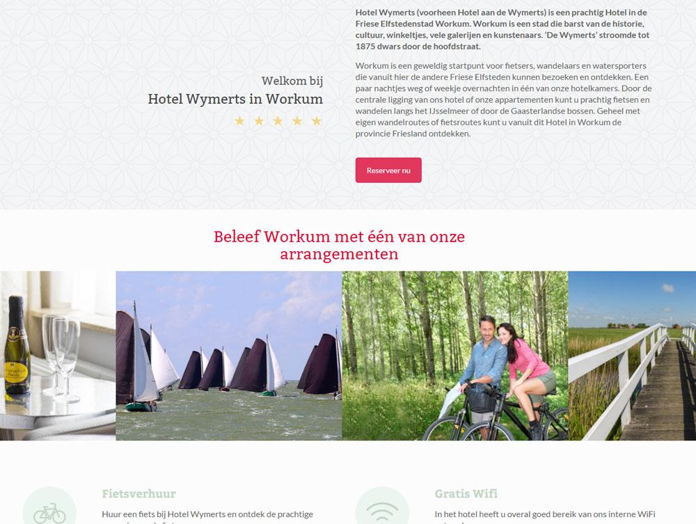 Nieuwe website Hotel Wymerts - arrangementen