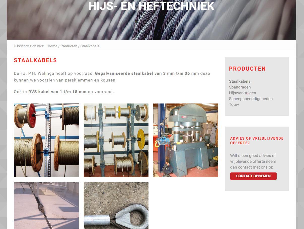 Nieuwe website Walinga